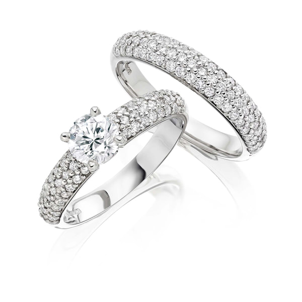 Justin Richardson Platinum & Diamond Bridal Set