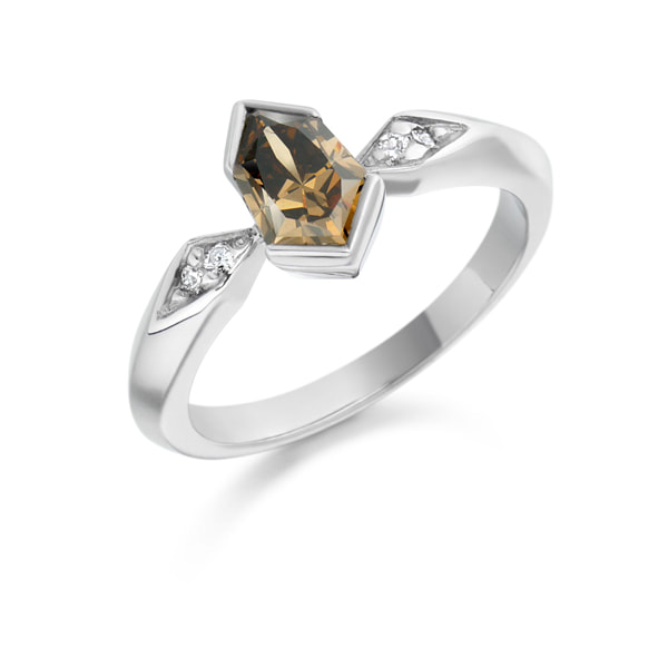 Justin Richardson White Gold Cognac Diamond