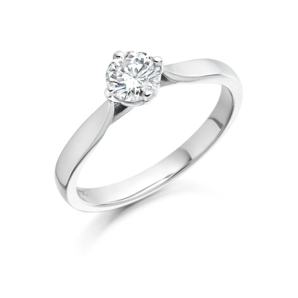 Justin Richardson White Gold  Diamond Ring With Classic Four Claw Setting