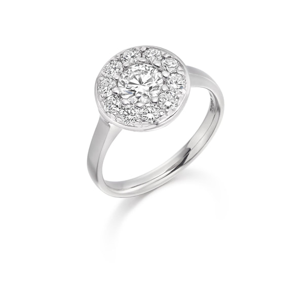 Justin Richardson Platinum & Diamond Cluster Ring