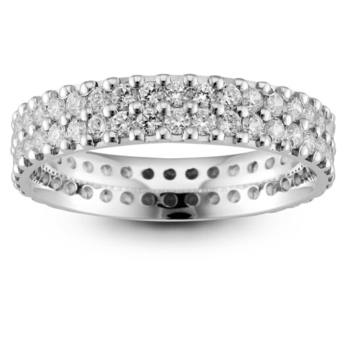 Platinum & Diamond Double Row Wedding Ring