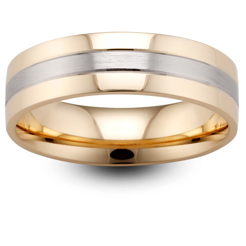 Yellow & Red Gold Triple Band Wedding Ring