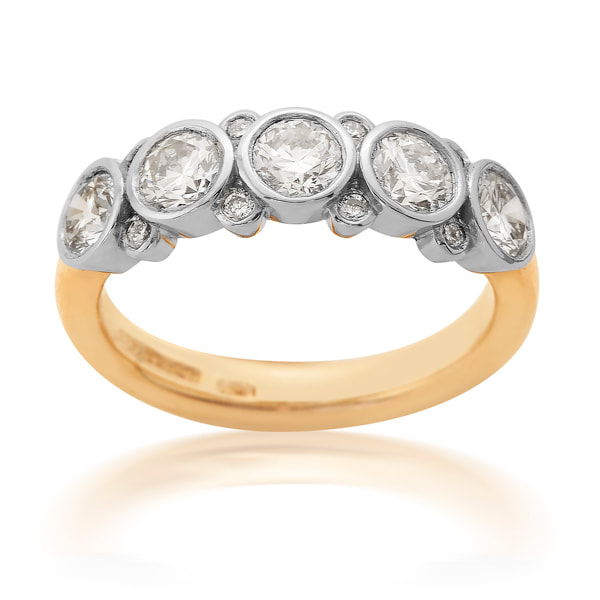Yellow Gold & Platinum 1/2 Eternity Ring