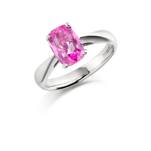 Justin Richardson White Gold Ring Set With Pink Sapphire