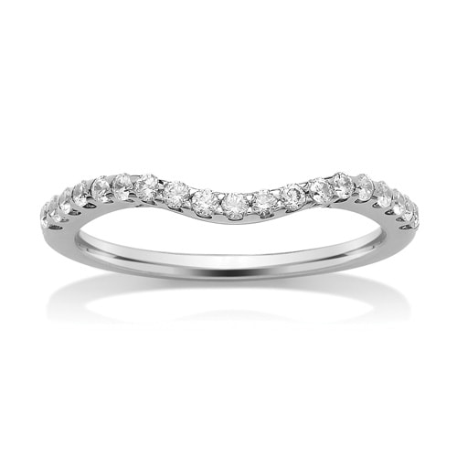 Platinum & Diamond Grain Set Wishbone Ring