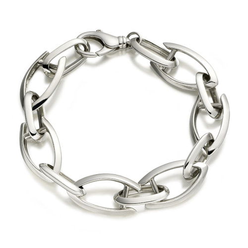 Justin Richardson Sterling Silver Heavy Linked Arrow Bracelet
